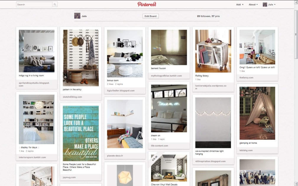 PINTEREST BOARD HOME DECOR