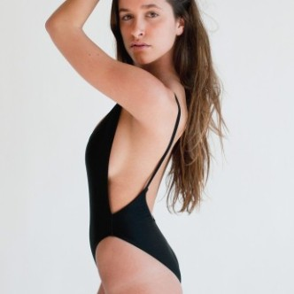 AMERICAN APPAREL TRICOT HIGH CUT ONE PIECE