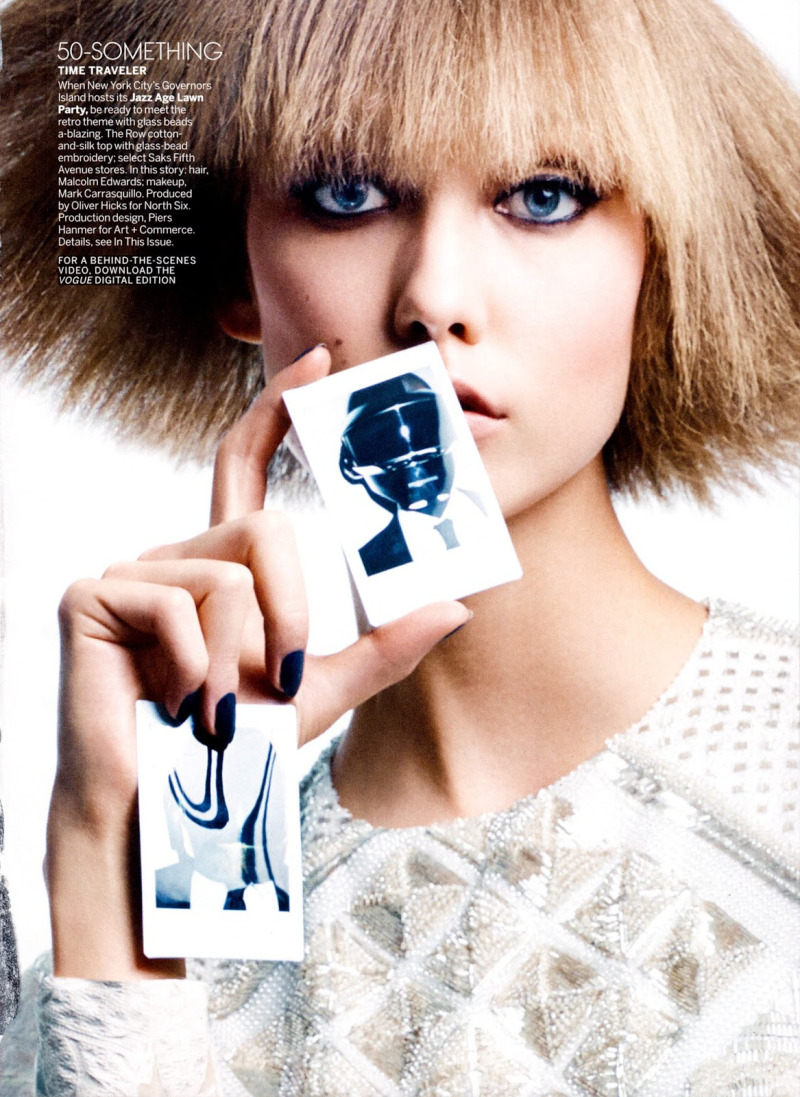 Karlie Kloss & Daft Punk by Craig McDean for Vogue US August 2013
